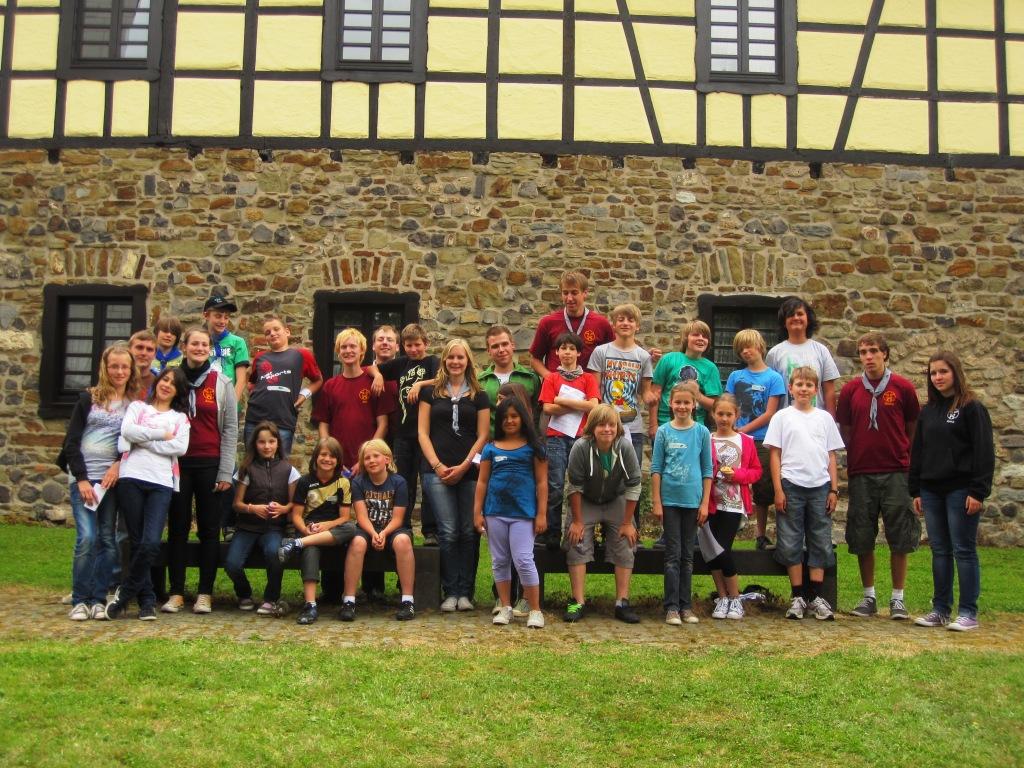 Gruppenfoto vom Juffitag 2011 der DPSG Stamm Oberpleis.