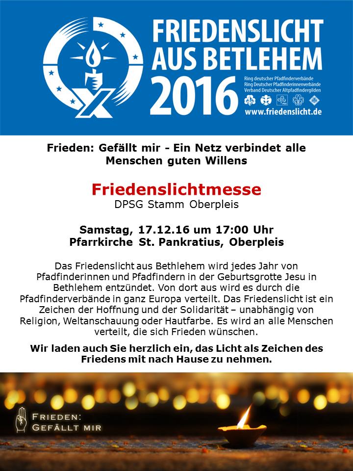 Friedenslichtmesse 2016