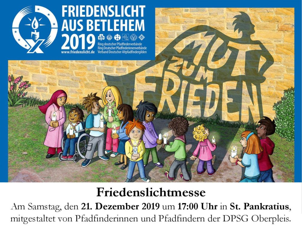 Einladung Friedenslichtmesse 2019
